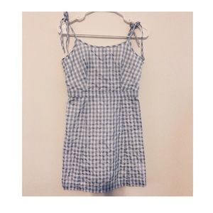 Madewell Gingham Tie-Strap Dress
